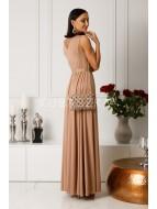 Długa sukienka Salma- ciemno złota poświata