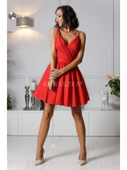 Sukienka Elisabeth - czerwona poświata